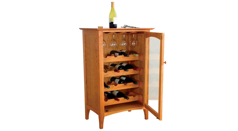 Circle Furniture  Cambridge Wine Cabinet  Hardwood