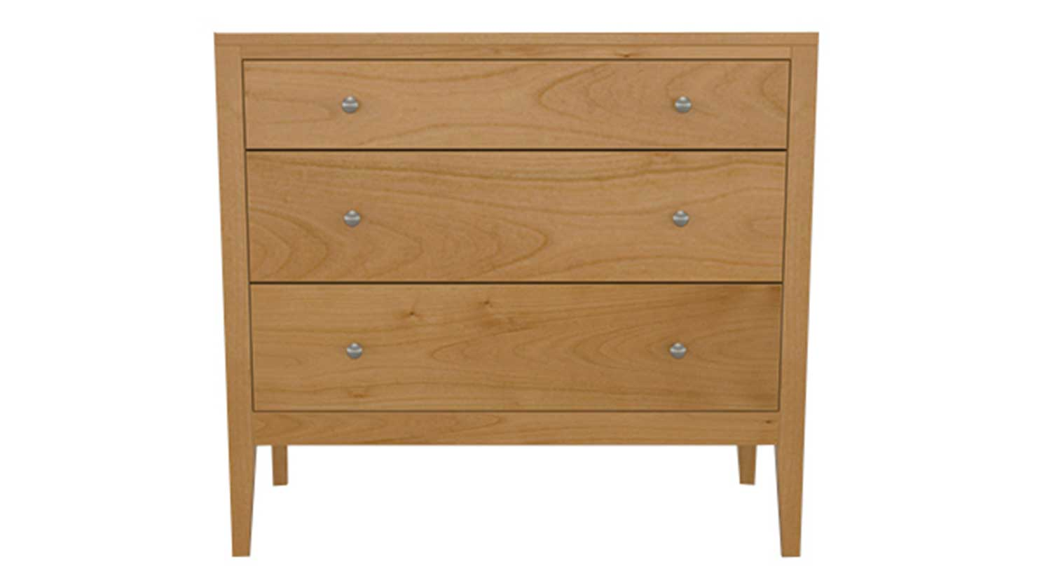 Circle Furniture  Franklin Three Drawer Dresser  Bedroom