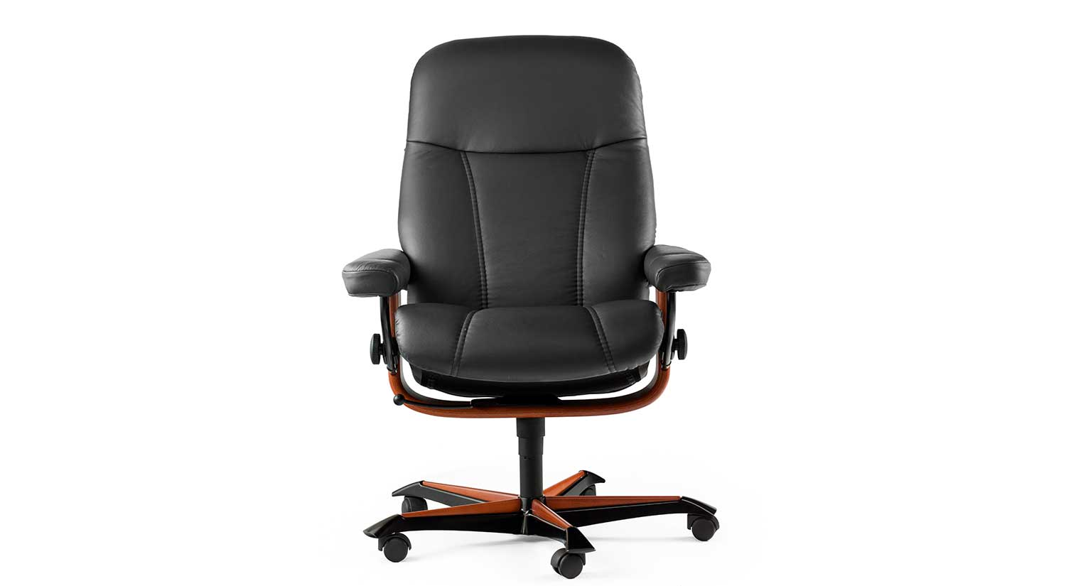 ergonomic chair description slipcovered parsons chairs circle furniture stressless consul office