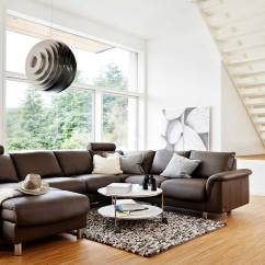 Leather Sofas For Small Living Rooms How To Put Slipcover On Sofa Circle Furniture - E300 Ekornes Sectional | Designer ...
