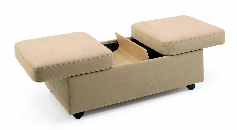 Circle Furniture  Stressless Double Ottoman  Storage