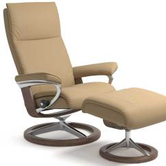 Ekornes Chair Accessories Mid Century Modern And Ottoman Circle Furniture - Aura Stressless | Leather Recliners