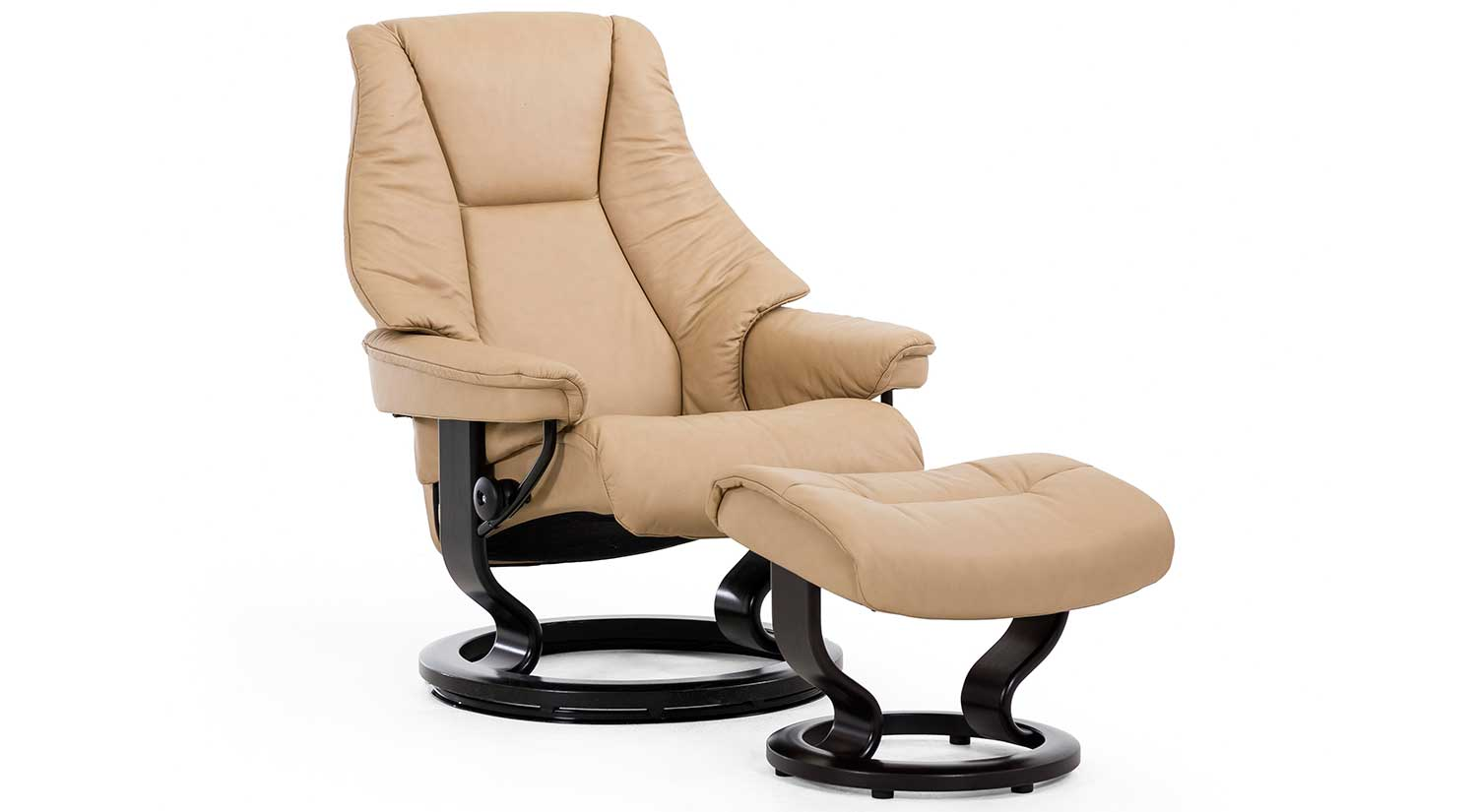 Circle Furniture  Live Stressless Chair and Ottoman