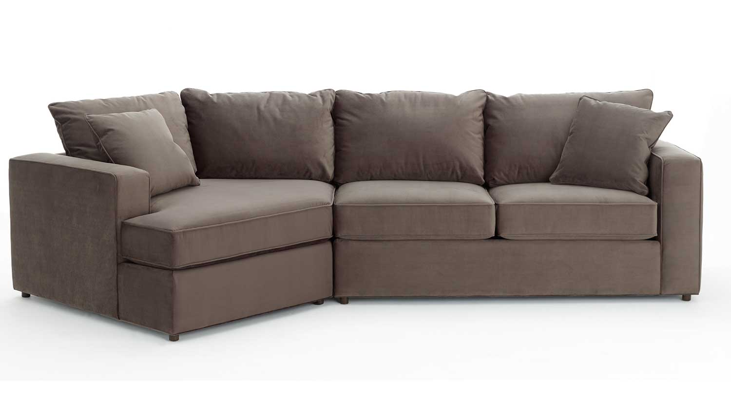 angled sectional sofa oversized leather circle furniture - | living room ...