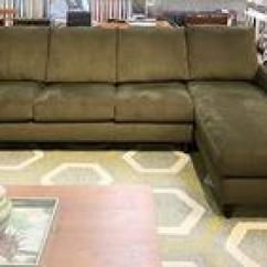 American Leather Swing Chair Desk Ergonomic Requirements Circle Furniture Outlet Designer Bennet Sectional In Moss