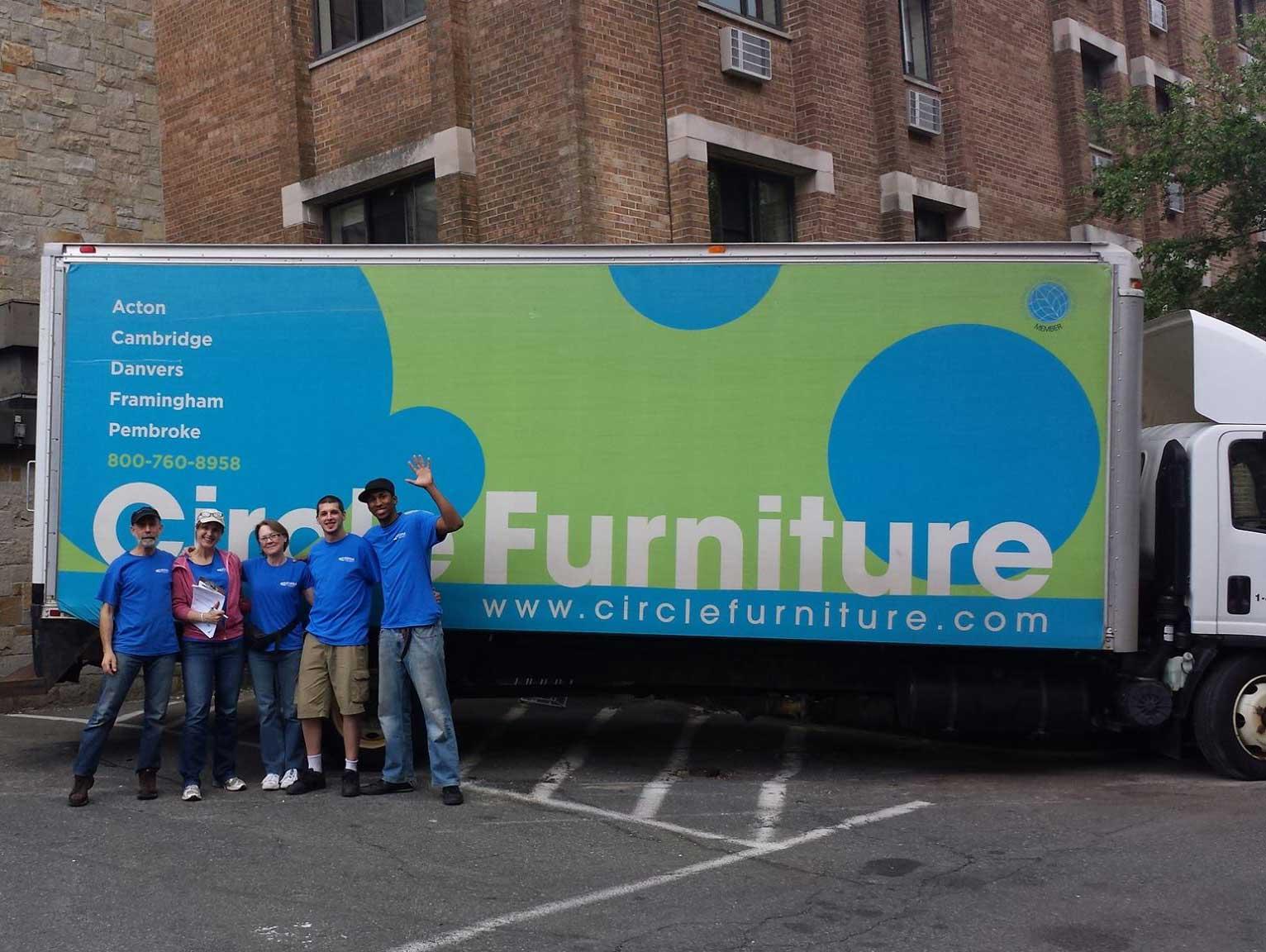 donate sofa to charity lane rv sleeper community service circle furniture truck and team