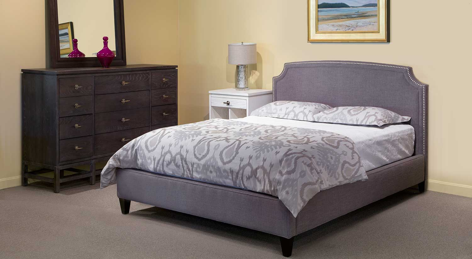 Circle Furniture  Upholstered Low Footboard Bed