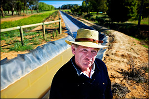 Dudley Bryant, a cattle producer near Shepparton and a key voice in water politics, started Northern Victoria Irrigators, a farmers' group that is supporting a US$1.5 billion project to modernize the leaky Goulburn-Murray irrigation district. Use left and right arrows to navigate through all images.