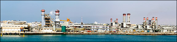 Large scale desalinization already takes place in the United Arab Emirates (UAE). This plant in Ras al-Khaimah, contributes to the nearly 8.5 million cubic meters of water produced per day in the UAE.