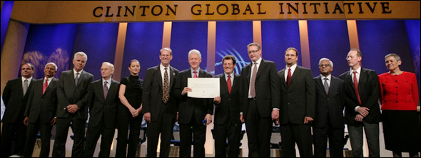 A selection of Clinton Global Initiative participants: Her Majesty Queen Rania Al Abdullah, Queen of the Hashemite Kingdom of Jordan, Marilyn Carlson Nelson, Chairman, Carlson; Nicholas D. Kristof, Columnist, The New York Times; Co-Author,