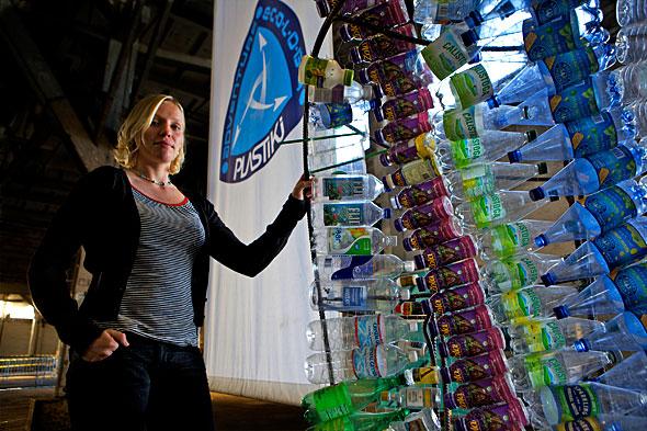 Jo Royle, 30, skipper of the Plastiki. Photo © 2009 J.Carl Ganter for Circle of Blue.