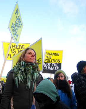 Copenhagen Demonstration: Greenpeace Protesters