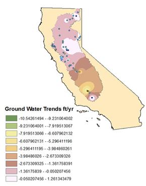NASA Groundwater Map