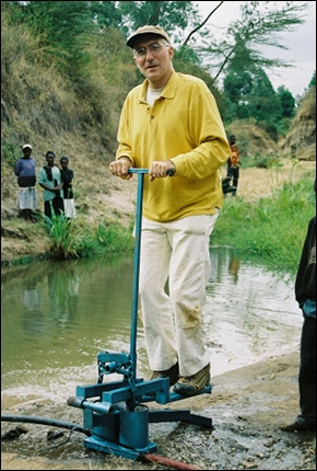Steven Solomon in Kenya