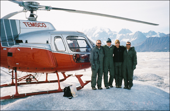 VanSumeren and students from The University of Michigan traveled to Alaska to study the recently exposed areas of the rapidly melting Bering Glacier.