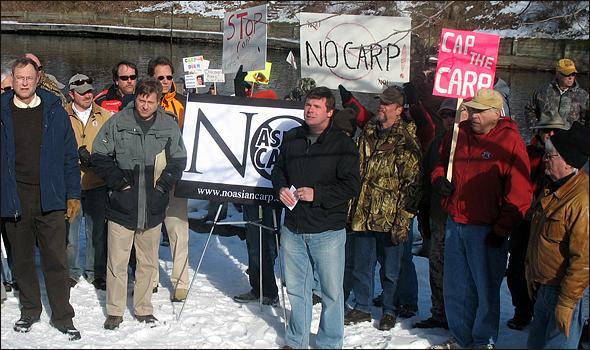 Michigan Carp Protests