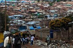 Kibera slum.