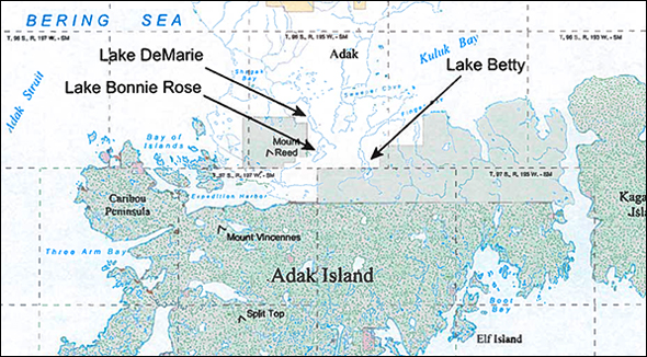Adak Island.  Alaska Maritime and National Wildlife Refuge.  Click to enlarge.