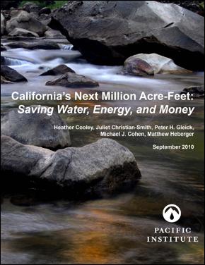 California's Next Million Acre-Feet: Saving Water
