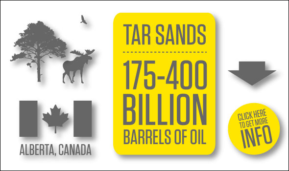 Graphic Tar Sands Info Barrel Oil Crude Water Energy Pollution Carbon Dioxide greenhouse gas climate change
