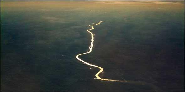 Aerial photo of the Illinois River near Ottawa, Illinois. 2010.