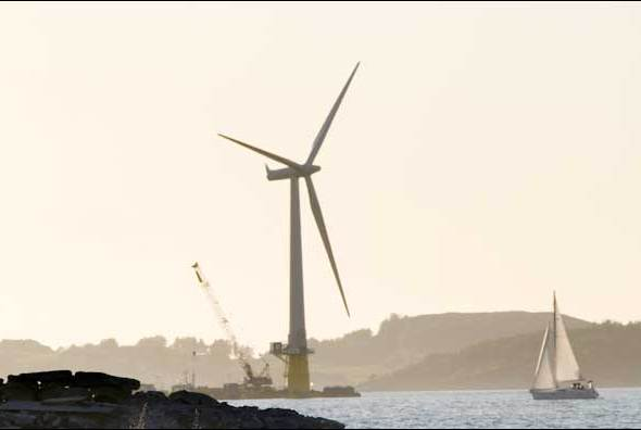 World's first full-scale floating wind turbine