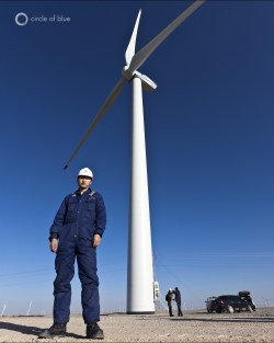 China Water Energy Wind Solar Alternative Renewable Gansu Clean Desert Scarcity