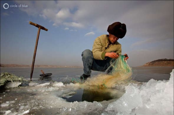 China Water Energy Fish Fisherman Fishing Irrigation Farmer Agriculture Food Beijing Hebei