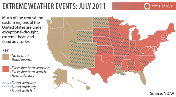 Weather Extremes Floods Droughts Tornadoes And Extreme Heat - Heat-map-us