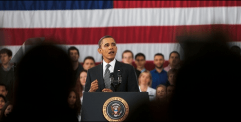 President Obama spoke to students at Northern Virginia Community College in Annandale, Va., on Monday, the day he submitted his fiscal year 2013 budget to Congress. (Official White House Photo by Lawrence Jackson)