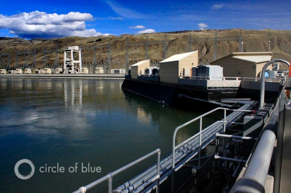 Rocky Reach Dam Columbia River Chelan County Public Utility district Washington National water and climate center