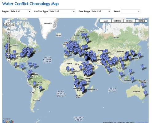 Water Conflict Map