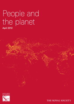 Royal Society population consumption People and the Planet IAP statement