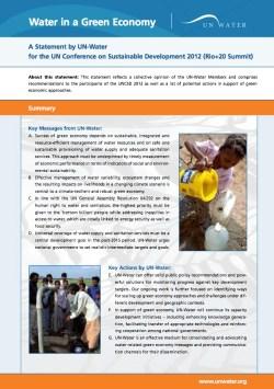 UN-Water Rio Rio+20 statement water