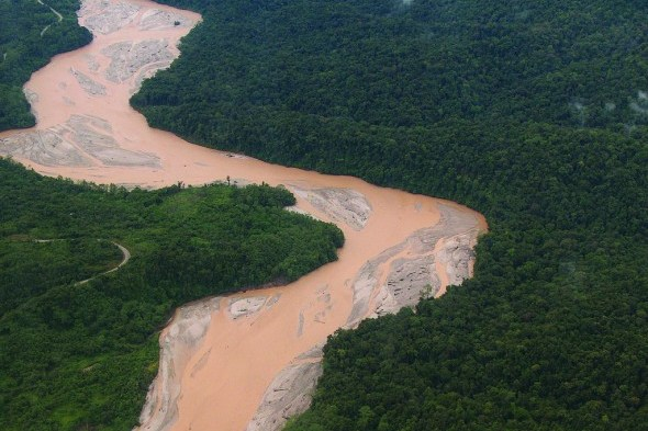 mine tailings OK Tedi river copper gold mine Papua New Guinea mining water pollution earthwork miningwatch canada