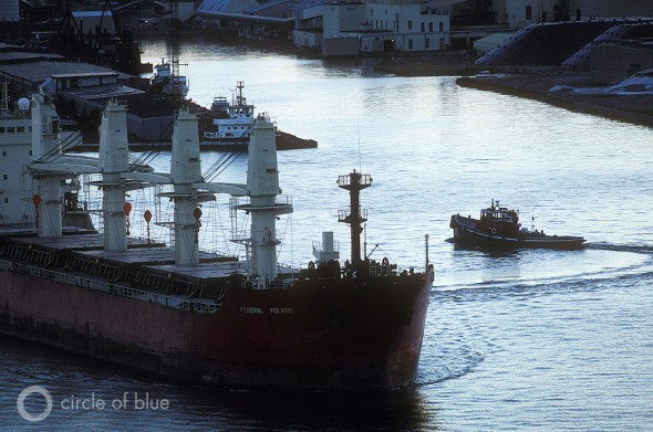 Federal Polaris freighter Chicago Great Lakes shipping industry cargo transportation