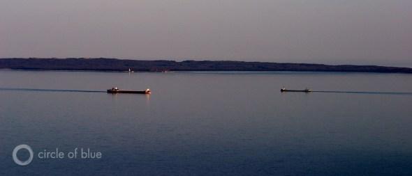 Freighter Manitou Island Lake Michigan Great Lakes