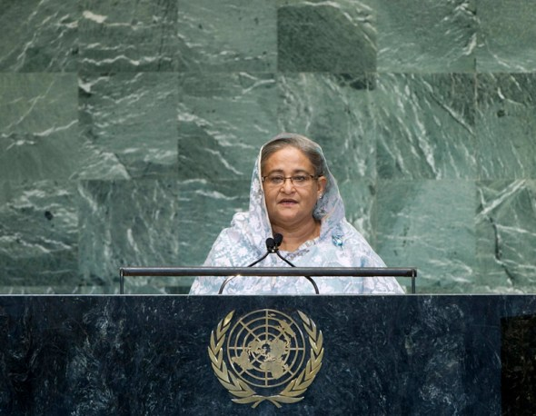 united nations general assembly debate water prime minister bangladesh sheik hasina