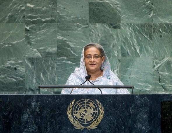 united nations general assembly debate water prime minister bangladesh sheik hasina