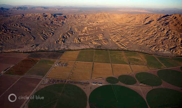 Colorado River Arizona Fort Mojave irrigation farming fields desert canal Carl Ganter Circle of Blue