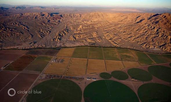 Colorado River GRACE satellite groundwater reservoir shrinking Mojave Desert irrigation agriculture