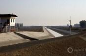 Outside Urumqi irrigation canal xinjiang china