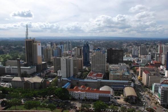 Nairobi Kenya aerial view