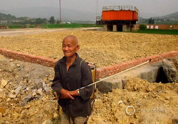 China fracking deep shale natural gas well lao chang sichuan province hydrofracture farming farmer agriculture