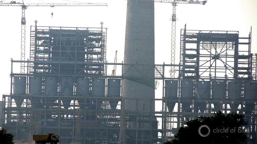 A 1,350-megawatt coal-fired power plant under construction