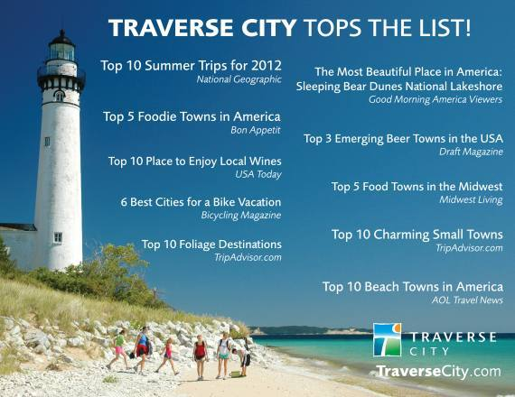 Traverse City Michigan Foodie Best of Top 10 Most Beautiful Place in America National Geographic Best Summer Trips Best Small Town