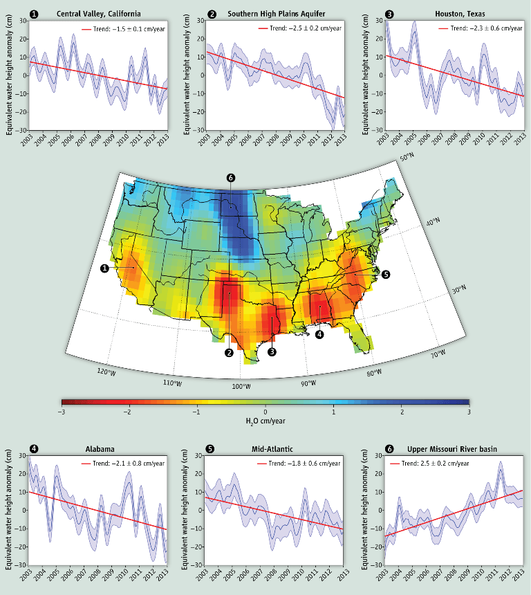 Satellite Data Shows U.S. Water 'Hotspots' - Circle of Blue on california groundwater, california mountain ranges, california reservoirs, eritrea map satellite, california water wars, california fault lines, pacific coast satellite, california wildfires current, california farms, new york city satellite, california fires, california from space, cebu map satellite, bp oil spill satellite, california legoland water park, california rain, florida satellite, california giant garter snake, wildfire smoke satellite, great lakes satellite,