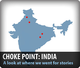 Choke Point India Circle of Blue Wilson Center water food energy nexus infographic map data
