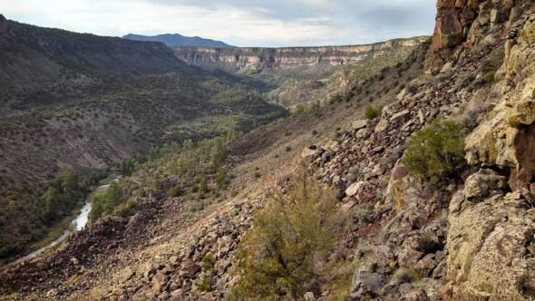 Taos New Mexico monsoon drought Rio Grande gorge