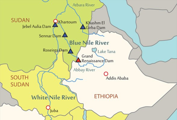 infographic data graphic design Wealth of the Nile river basin egypt ethiopia gdp dam hydropower